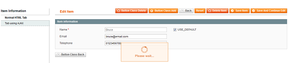 Advanced magento form in Backend.