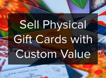Sell physical gift cards with custom value on Magento POS